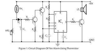 burglar alarm circuit and projects diy readingrat net Commercial Fire Alarm Wiring Diagrams simple fire alarm thermistor circuit diagram wiring diagrams, circuit diagram commercial fire alarm wiring diagram