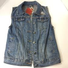 Mossimo Blue Denim Vest Jean Jacket Women S Small