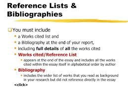 Referencing Bibliographies Ppt Download