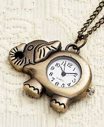 pendant watch necklaces elephant