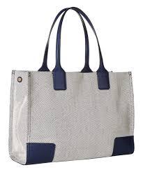 love this product navy gray canvas ella mini tote