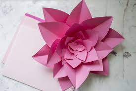 Flower Paper Craft How To Make Large Paper Flowers