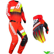 Answer Elite 2020 Motocross Gear Combo Korza Red Fluo Yellow