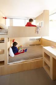 cool kids bunk bed.  Bed Cool And Functional Built In Bunk Beds For Kids Bed