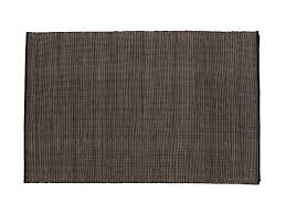 buy the nanimarquina natural tatami rug black at nestcouk