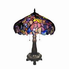 chloe lighting katie tiffany style 2 light wisteria table lamp 16 shade