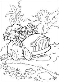 kids n fun com 27 coloring pages of dora the explorer 2