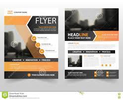 Graphic Design Process Book Template Orange Black Business Brochure Leaflet Flyer Annual Report