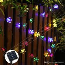 2017 new 4 8m 20leds string lights solar power energy saving wedding party concert decoration lights garden lights y strings of lights industrial string
