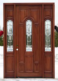 Mahogany Wood Doors With Sidelights Ready To Install - Exterior door stain
