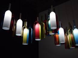 kitchen lighting with rgb color glass