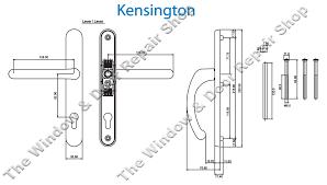 kensington door handle technical diagram