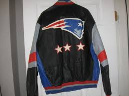 ne patriots mirage real leather jacket m embrioded super bowl champions