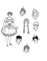 Christmas Fairy Paper Doll Coloring Page The Graphics Fairy