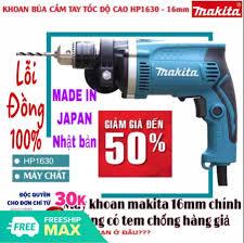Máy khoan cầm tay chính hãng Máy khoan điện Makita HP 1630 có khoan búa -  khoang tường - máy đục bê tông - máy khoan gỗ - máy khoan sắt -