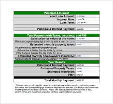 Free Loan Payment Calculator Sample Loan Payment Calculator 8 Free Documents In Pdf