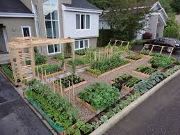 inspiring front yard vegetable garden house design with diy raised planter box garden bed various plants and flower ideas