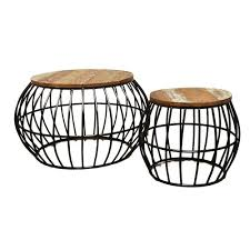 wood modern wooden round coffee table