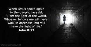 Light Of The World Verse Niv John 8 Esv Niv Dailyverses Net