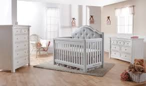 elegant baby furniture. Grey Wooden Pali Crib With Tufted Panel For Nursery Furniture Ideas Elegant Baby A