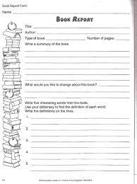 Book Report Template For 4Th Grade Pdf