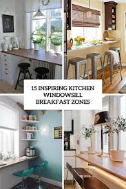 kitchen window sill. Brilliant Window Inspiring Kitchen Windowsill Breakfast Zones Cover To Kitchen Window Sill D