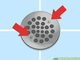 image titled caulk a shower drain step 1