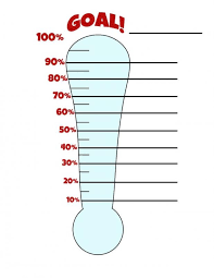 Printable Goal Chart Thermometer Goal Setting Thermometer Chart Fresh Thermometer 2 Our Goal