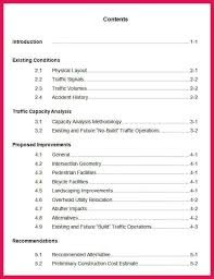 Table Of Contents Apa Apa Format Table Of Contents Sop Examples