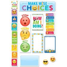 Creative Teaching Press Ctp0596 Emoji Fun Behavior Clip Chart Mini Bulletin Board