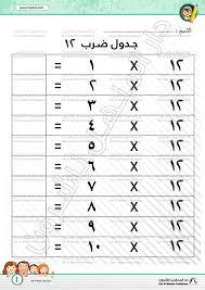 Multiplication Table 12