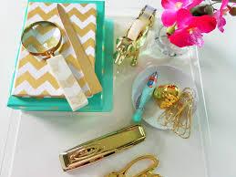 diy office supplies. nate berkus gold office accessories diy supplies a