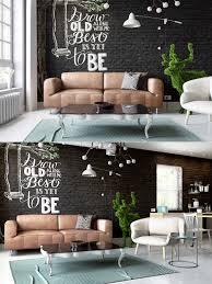 Living Room Design: Matte Black Accent Wall - Living Rooms