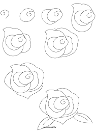 how to draw flowers learn how to draw a rose with simple step by step instructions
