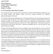 Scholarship Recommendation Letter 20 Sample Letters With