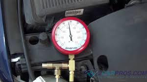 fuel pump pressure and regulator test youtube vw jetta gas gauge problem at Jetta Fuel Gauge Diagram