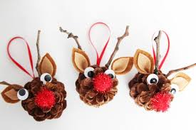 these pinecone reindeer are the most adorable kids craft make these diy pinecone ornaments