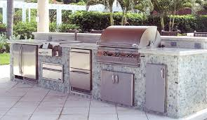 outdoor kitchen appliances fridge grill burner cabinets