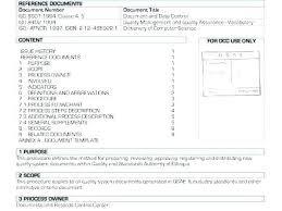 Work Instruction Template Work Instruction Template Iso 9001 Example