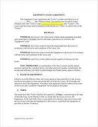Lease Agreement Example 13 Equipment Lease Agreement Examples Pdf Doc Examples