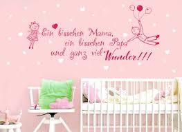 Wandtattoo 2 Farbig Spruch Papa Mama Wunder W5431