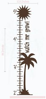 Palm Tree Chart Amazon Com Palm Tree Growth Chart Vinyl Decals Nursery Wall