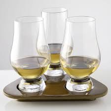 0019967 the glencairn official whisky glass flight tasting tray