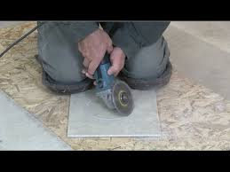 how to cut a floor tile circle for toilet