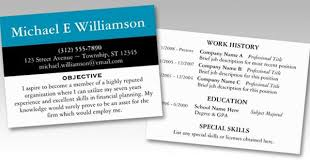 Resume Business Cards Extraordinary Resume Business Cards Resume Business Cards Resume Business Card