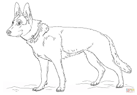German Shepherd Dog coloring page | Free Printable Coloring Pages