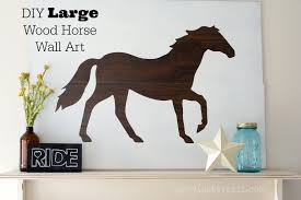 large wood horse wall art and silhouette portrait giveaway