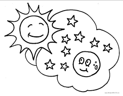 Small Picture Sun And Moon Face Coloring Coloring Pages
