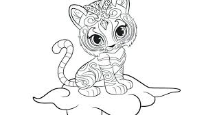 Shimmer And Shine Color Pages Free Shimmer Shine Coloring Pages Free