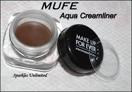 make up for ever aqua creamliner in matte brown 2 review swatches pics sparkles unlimited